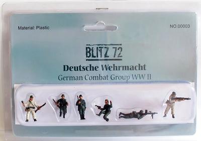 Infantería Alemana (6 figuras), 1:72, Blitz 72