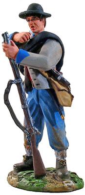 Infantería Confederada, Soldado cargando el fusil, 1:32, William Britains