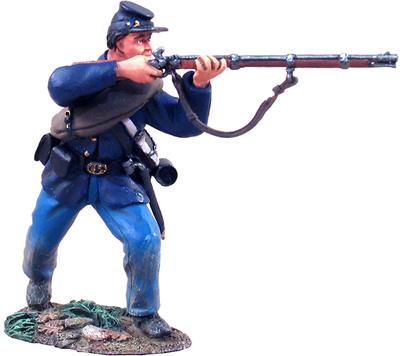Infantería de la Unión, Soldado disparando el fusil, 1:32, William Britains