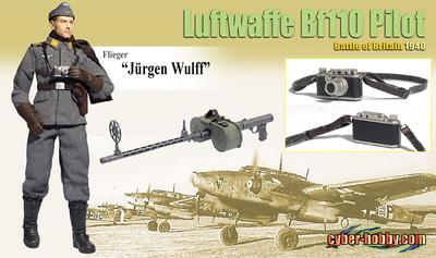 Jürgen Wulff (Flieger), Luftwaffe Bf110 Pilot, Battle of BritaIn 1940, 1:6, Dragon Figures