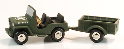 JEEP WILLYS C/REMOLQUE, 1:90, Schuco