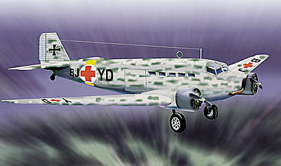 JU52-3M Luftwaffe, Ambulance, 1:48, Franklin Mint