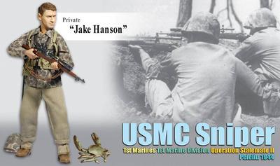 """Jake Hanson"", USMC Sniper, 1st Marines, 1st Marine Division, Peleliu, 1944, 1:6, Dragon Figures"