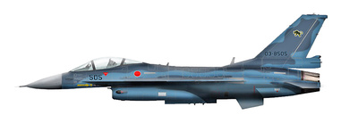 Japan F-2A, 03-8505, 8th Sqn., JASDF, Septiembre, 2012, 1:72, Hobby Master