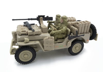 Jeep CJ-5, 1/4 ton, US Army, 1:43, Cararama
