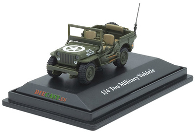Jeep CJ-5, 1/4 ton, US Army, 1:72, Cararama