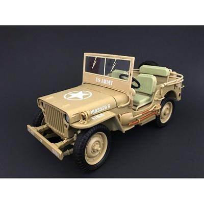 Jeep US Army, color desierto, 2ª Guerra Mundial, 1:18, American Diorama