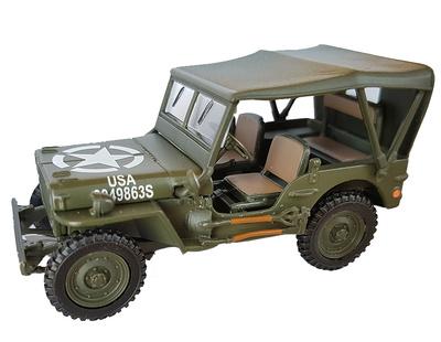Jeep with canvas hood, 1:43, Cararama