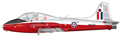 Jet Provost Trainer XW324, Finningley UK, 1:72, SkyMax