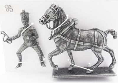 Jinete de Artillería, Caballo de Tiro de la Artillería del Frente Derecho, 1:24, Atlas Editions
