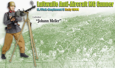 """Johann Meiler"", Luftwaffe Anti-Aircraft MG Gunner, II./Flak-Regiment 5, Italia, 1944 (Gefreiter), 1:6, Dragon Figures"