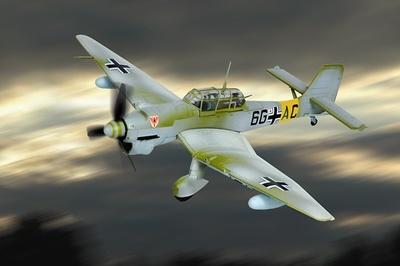 Ju 87B Stuka, Luftwaffe II/StG 1, Eastern Front, 1941, 1:48, Franklin Mint
