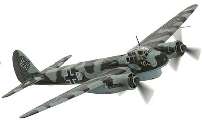 Junkers Ju-88C-6 F8+BX, 13./KG40, Batalla de Golfo de Vizcaya, Lorient, Francia, 1943, 1:72, Corgi