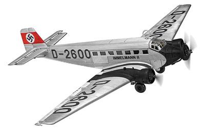 "Junkers Ju52 / 3m D-2600 ""Immelmann II"", el avión de transporte personal de Adolf Hitler, 1936, 1:72, Corgi"