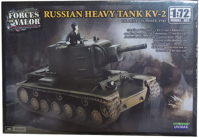 KV-2, Tanque Pesado Ruso, Ucrania, Verano, 1941, 1:72, Forces of Valor