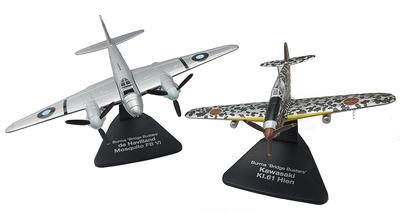 """Kawasaki KI.61 Hien + de Haviland Mosquito FB VI, """"Bridge Busters"""", Birmania, 1943-45, 1:72, Atlas"""