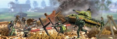 King Tiger and Soldiers, Normandy 1944, 1:72, Forces of Valor