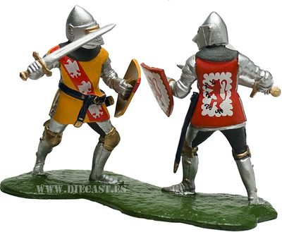 Knights Dueling Foot, 1:32, William Britains