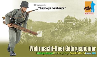 """Kristoph Grubauer"", Wehrmacht-Heer Gebirgspionier, Operation Marita, Grecia, 1941, 1:6, Dragon Figures"