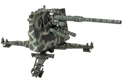 Krupp 8.8 Cm FlaK 36 Gun, 8,8cm Flak18/36 - 33.FlaRgt., 21.PzDiv, 1:72, Panzerstahl