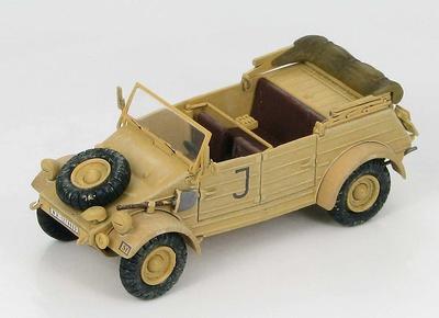 Kubelwagen Type 82 Afrika Korps sPzAbt 501 HQ Company, Túnez, 1943, 1:48, Hobby Master