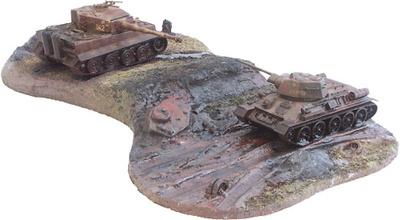 Kursk Diorama - T-34 & Tiger Tank, 1:50, Corgi