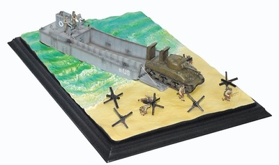 LCM(3) Landing Craft + M4A1 w/Deep Wading, 1:72, Dragon Armor