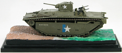 LVT(A)-1 US Army, 1945 US Army with water diorama, 1:72, Hobby Master