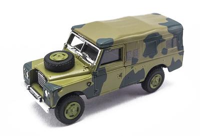 Land Rover 109 Serie III, Camuflaje, 1:72, Cararama