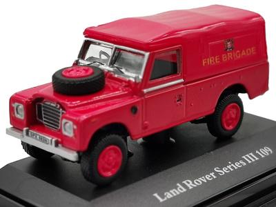 Land Rover 109 Serie III, Capota de lona roja, Fire Brigade, 1:72, Cararama