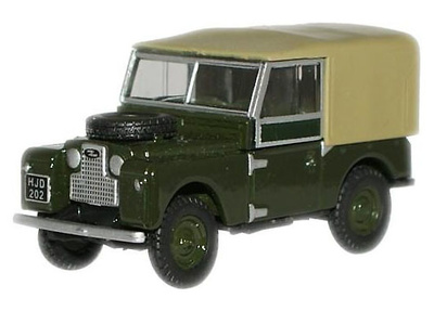 Land Rover 88 Techo de Lona, Green Bronze, Reino Unido, 1:76, Oxford