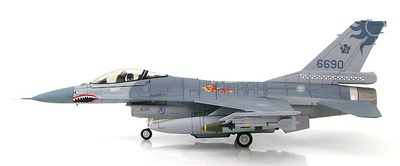 "Lockheed F-16A Fighting Falcon 6690, 401st TFW, ROCAF, 2015 1st American Volunteer Group ""Flying Tigers"", 1:72, Hobby Master"