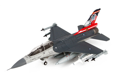 "Lockheed F-16B Fighting Falcon 6814, ROCAF, 2017 ""80th Anniversary of 814"", 1:72, Hobby Master"