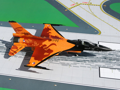 "Lockheed F-16C Fighting Falcon, Lockheed, RNLAF F-16 Demo Team, ""The Orange Lion"", 1:72, Gemini Aces"