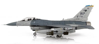 Lockheed F-16CG 90-0703, 8th FW Commander's Jet, Kunsan Air Base, Corea del Sur, 2007, 1:72, Hobby Master