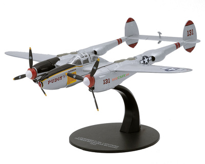 Lockheed P-38 Lightning, piloto Thomas Buchanan, 1945, 1:72, Atlas