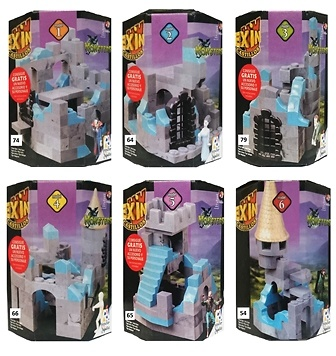 Lote de 6 modelos, edición especial, Monsters, Exin Castillos