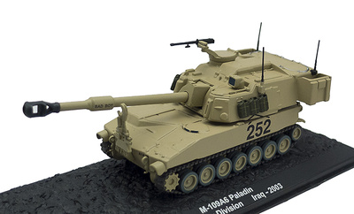 M-109A6 Paladin, 4th Infantry Division, Irak, 2003, 1:72, Altaya