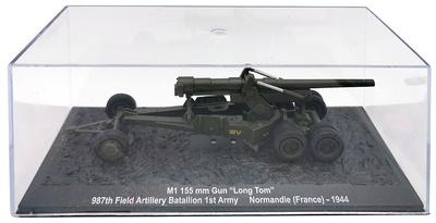 "M1 155 mm Gun ""Long Tom"" 987th Field Artillery Battalion 1st Army, NormandÍA, 1944, 1:72, Altaya"