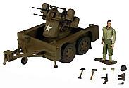 M17, 2 Ton M45 trailer + Maxon Quadmount, 1:18, 21st Century Toys