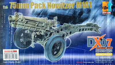M1A1 75 mm. Pack Howitzer, 1:6, Dragon Figures