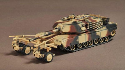 M1A1 Abrams C/W Mine Clearance Roller, Loiusiana 1998, 1:72, War Master