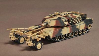 M1A1 Abrams C/W Mine Clearance Roller, Loiusiana 1998, 1:72, War Master