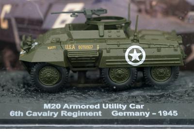 M20 Armored Utility Car, 6th Cavalry Regiment, Alemania, 1945, 1:72, Altaya