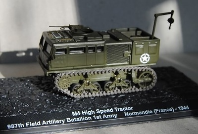 M4 High Speed Tractor, 987th Field Artillery Bataillon 1st Army, Normandie (France) 1944,1:72, Altaya