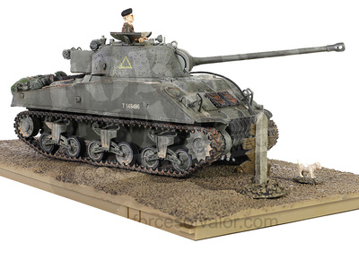 M4 Sherman Firefly, British Army 8th Armored, Bgd 13/18th Hussars, Normandy, D-Day, , 1:32, Forces of Valor
