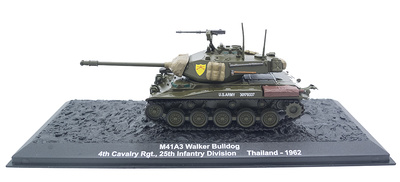 M41A3 Walker Bulldog, 4th Cavalry, 25th Infantry Division, Tailandia, 1962, 1:72, Altaya