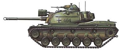 M48A2 Patton, Bundeswehr, PzBtl 24, Braunschweig 1962, 1:72, Hobby Master