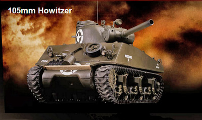 M4A3 Sherman, 105 mm. Howitzer, USA, 1:24, VS Tank Pro