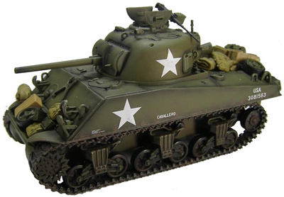 "M4A3 Sherman ""Caballero"" 6th Armored Division, Enero, 1945, Ardennes, 1:48, Hobby Master"